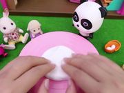 Baby Panda's Birthday Party | Make Strawberry Cake