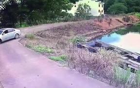 Man Dramatically Escapes
