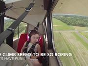 Little Girls Aerobatic Flight