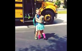 Little Girl Hugs Her Brother Every Day