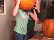 Head Stuck In A Pumpkin