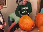 Head Stuck In A Pumpkin