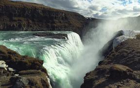 Misty Waterfall in Iceland