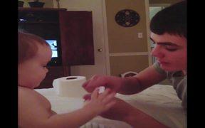 Baby Amazed By Magic Trick
