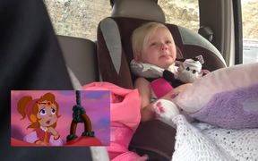 Girl Gets Emotional While Watching Cartoon