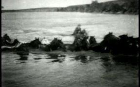 Herding Horses Across The River 1903