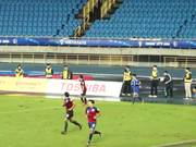 Intense Soccer Match
