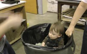 Funny Video About Kid in a Bucket