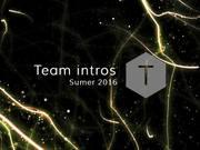 Summer 2016 - Team Intros