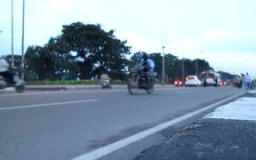 Traffic on Tank Bund Road