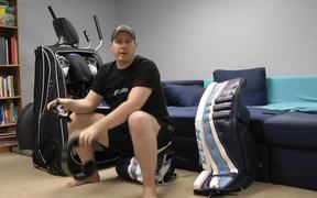 How to Break-in Hockey Goalie Equipment Tutorial