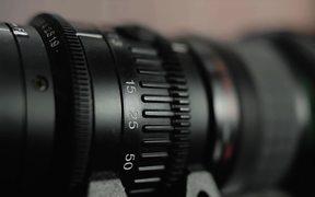 Camera Lens in Macro View