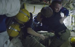 Hatch of Space Station Opens