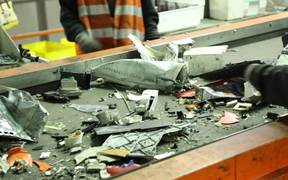 Electronic Waste on Conveyor Belt