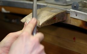 Jewellery Making - Filing a Ring Close Up