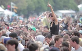 Crowds at Outdoor Music Festival