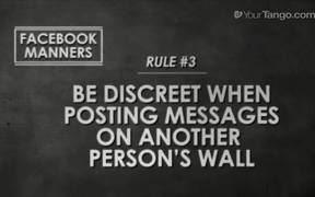 Facebook Manners and You