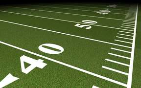 Football Field Tracking Shot