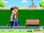 Teen Lovers Kiss