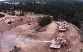 American Tanks train in Latvia