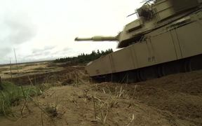 American Tanks train in Latvia