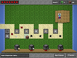 Minecraft Tower Defense Game Play Online At Y8 Com
