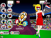 Euro 2012 Soccer Girl Dress Up