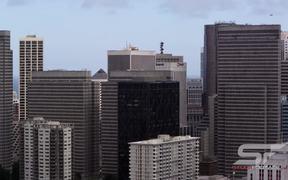 Panorama of San Francisco Bay Bridge and Buildings