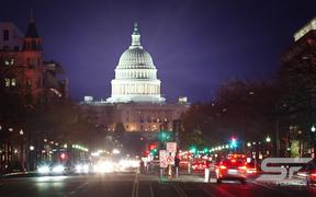 Time lapse of the US Captiol at Night with Flares