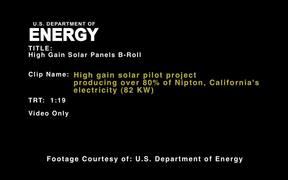 High Gain Solar Pilot Project B-Roll