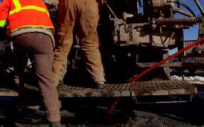 Geothermal Heat Pump Test Drilling B-Roll