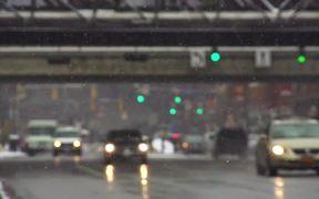 Winter Traffic in Slow Motion