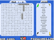 Birds Word Search