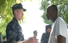 Commander Carrier Strike Group 1 Visits Haiti