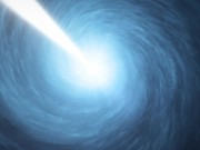 Artists impression of the quasar 3C 279