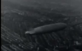 Airship LZ 127 Graf Zeppelin over the Netherlands