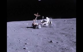 Apollo 16 Lunar Rover in use on the Moon