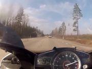 Mercedes SL63 AMG vs Yamaha R1 (300km/h)