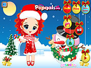 Merry Christmas Noel and Snowman Dress Up