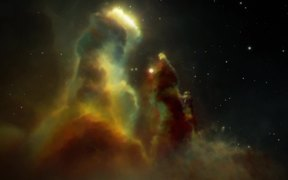 Artist's Impression of the Eagle Nebula