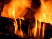 Bach Music and Fireplace in Macro