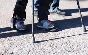 wearable robot allows paraplegics to walk