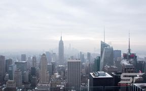 Time Lapse to the Manhattan Skyline in New York