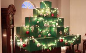 Life Size Minecraft Christmas Tree