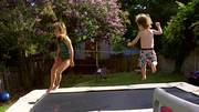 Kid Have Fun on the Trampoline