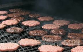 Burgers on Grill for Cook Out