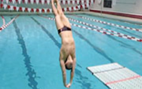 Cornell University swimming and diving